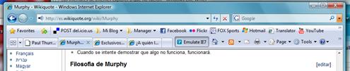 Interfaz IE8