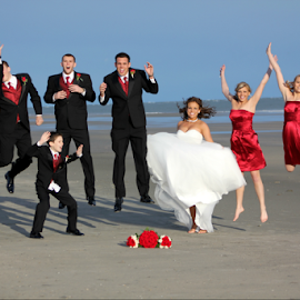 Celebration Time! by Darlene Lankford Honeycutt - Wedding Groups ( maids of honor, groomsmen, deez, wedding, dl honeycutt, beach, bride, groom, father of the bride, wedding party,  )