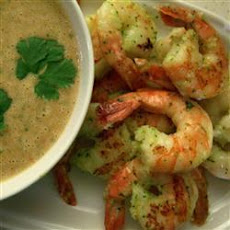 Thai Prawns With A Spicy Peanut-lime Vinaigrette
