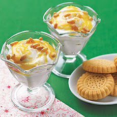 Lemony Greek Yogurt with Shortbread Cookies