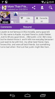 Screenshot of Justin Bieber Fanfiction