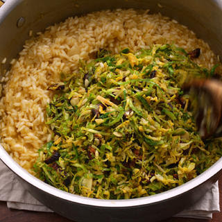 Brussels Sprouts and Lemon Risotto