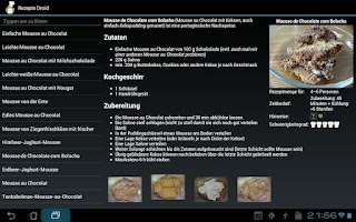 Screenshot of Koch Droid Rezepte
