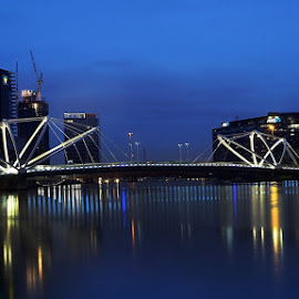 Seafarers Bridge  by Nilam Deo - Buildings & Architecture Bridges & Suspended Structures ( melbourne, australia, seafarers, victoria, bridge, seafarers bridge )