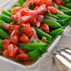 French String Beans/ Green Beans, Tomato & Basil Salad