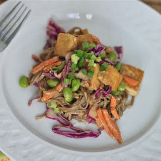 Soba Noodles and Tofu with Spicy Peanut Sauce