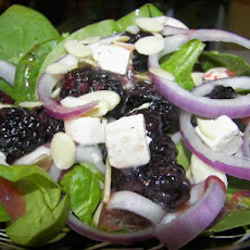 Spinach and Blackberry Salad - for One