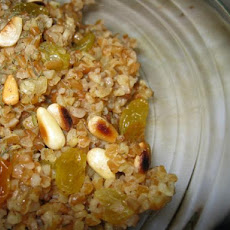 Lime-Scented Bulgar Pilaf With Raisins and Pine Nuts