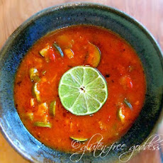 Fresh Vegetable Soup Recipe with Lime