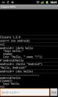 Screenshot of Clojure REPL