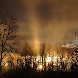 This Mornings Sky by Connie Hoyt Tompkins - Landscapes Sunsets & Sunrises