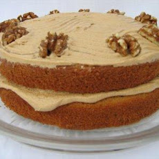 Babs Coffee Walnut Cake W/ Coffee Frosting