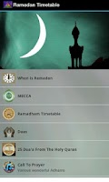 Screenshot of Ramadan Timetable