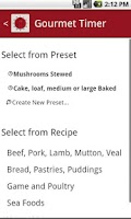Screenshot of Gourmet Timer Free