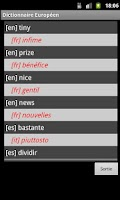 Screenshot of Europe Travel Dictionary