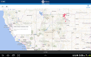 Screenshot of FEMA