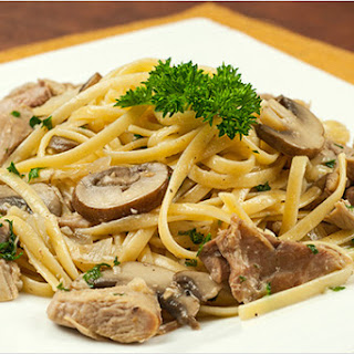 Linguine with Turkey and White Wine-Garlic Sauce