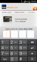 Screenshot of Itaú Mobile Card