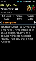 Screenshot of #butterflyEffect
