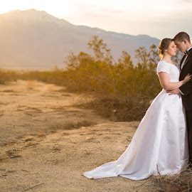 The Perfect Light by Glenn Pearson - Wedding Bride & Groom ( lighting, sunset, bride and groom, 5d mk iii )