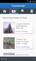 Screenshot of Townscript - Event App