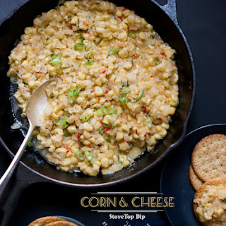 Stovetop Fresh Corn and Cheese Dip