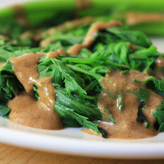 Chrysanthamum Greens with Sesame Seed Dressing