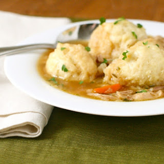 Lighter Chicken and Dumplings