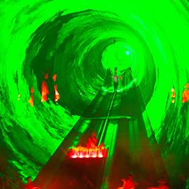 Laser Beam Road by Andi Mursidi - Abstract Light Painting
