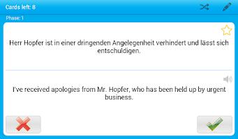 Screenshot of Business German Little Helper