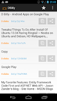 Screenshot of D Bitly
