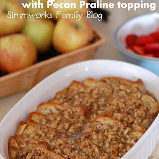 Overnight French Toast with Pecan Praline Topping