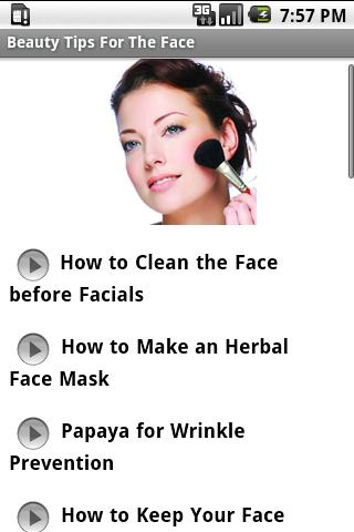 Beauty Tips For The Face