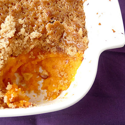 Mashed Sweet Potato Brulée
