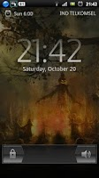 Screenshot of halloween camp fire LWP