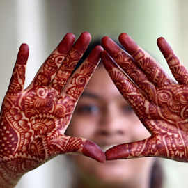 by Dipali S - People Body Parts ( henna, girls, painted, hands, art, festival, saavan, marriage, tattoo, women, person, people )