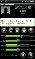 Screenshot of SVOX Slovak Elena Trial