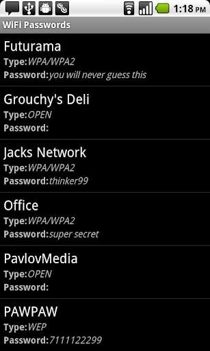 WiFi Passwords requires root