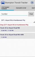 Screenshot of Brampton Transit Tracker