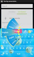 Screenshot of Emoji Keyboard Theme App
