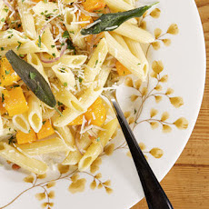 Penne with Roasted Butternut Squash, Pancetta, and Sage