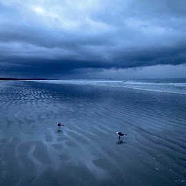 Stormy day, Cocoa Beach, FL. by John Hayes - Landscapes Beaches