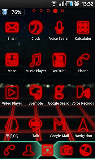 TronRed GO Launcher EX Themes