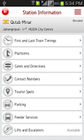 Screenshot of Delhi Metro Rail