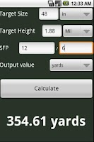 Screenshot of Mil Dot Calculator - Free