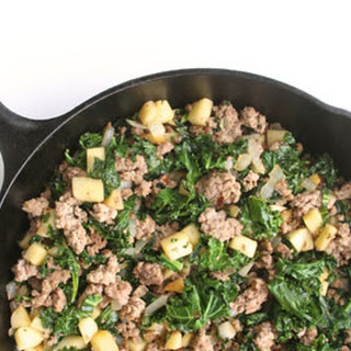 Turkey Sausage, Kale & Apple Hash