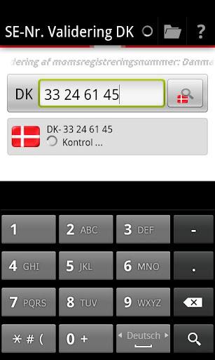 SE-Nr. Validering DK