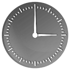 Elegant Gloss Clock Widget icon