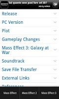 Screenshot of Mass Effect 3 Wiki