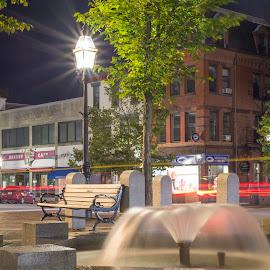 Evol by Michael Otero - City,  Street & Park  City Parks ( newhampshire, carlights, portsmouth, nikondf, manfrotto, longshutter, streaks, tripod, nikon, city )